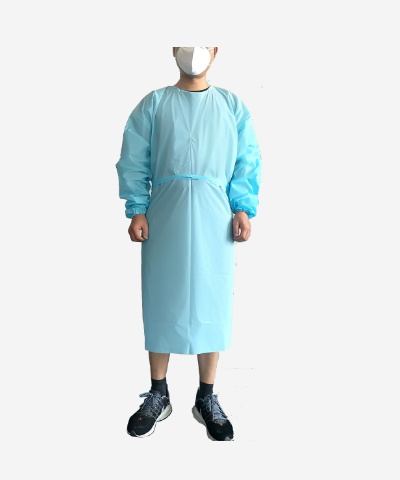 Isolation disposable gown, Elastic Cuff & Full Back, waterproof, Fluid Resistant